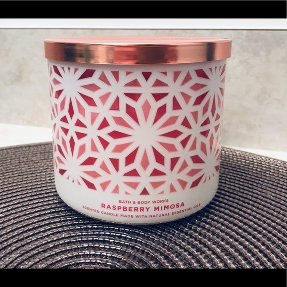 NWT Raspberry Mimosa 3-Wick Candle